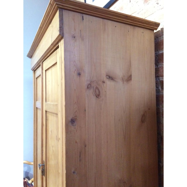 Early 20th Century Vintage Pine Armoire For Sale - Image 5 of 6