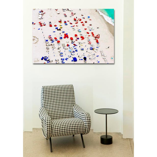 South Beach Red and Blue, Limited Edition Archival Photographic Watercolor Print, 11 x 17 inches, signed by the Artist on...