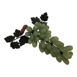 Vintage Italian Jade Grape Cluster For Sale