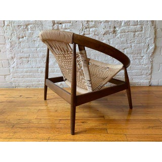 """Vintage Mid Century Illum Wikkelso """"Ringstol"""" Number 23 Teak and Woven Cord Ring Chair Preview"""