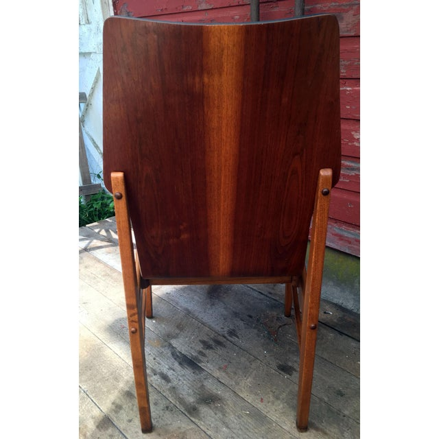 Set of 4 Mid Century Modern Lane High Back Walnut Dining Chairs For Sale In Providence - Image 6 of 11