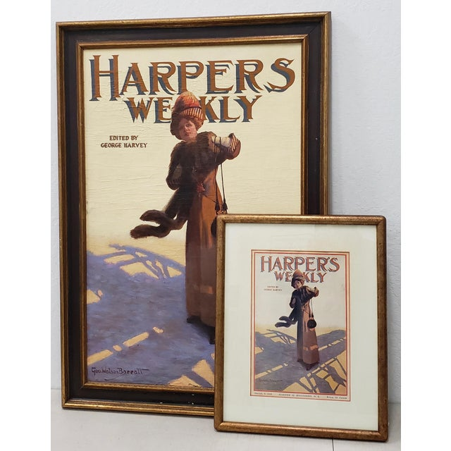 "George Watson Barratt (American, 1884-1962) ""Harpers Weekly"" Original Illustration C.1912 For Sale - Image 11 of 11"
