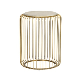 Chelsea House Macky Brass Side Table For Sale