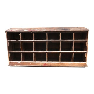 Antique Pine Hardware Store Nail Bin Cubby For Sale