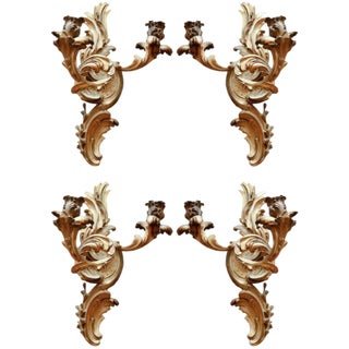 19th C French Dore Bronze Two-Arm Sconces - Set of 4 For Sale