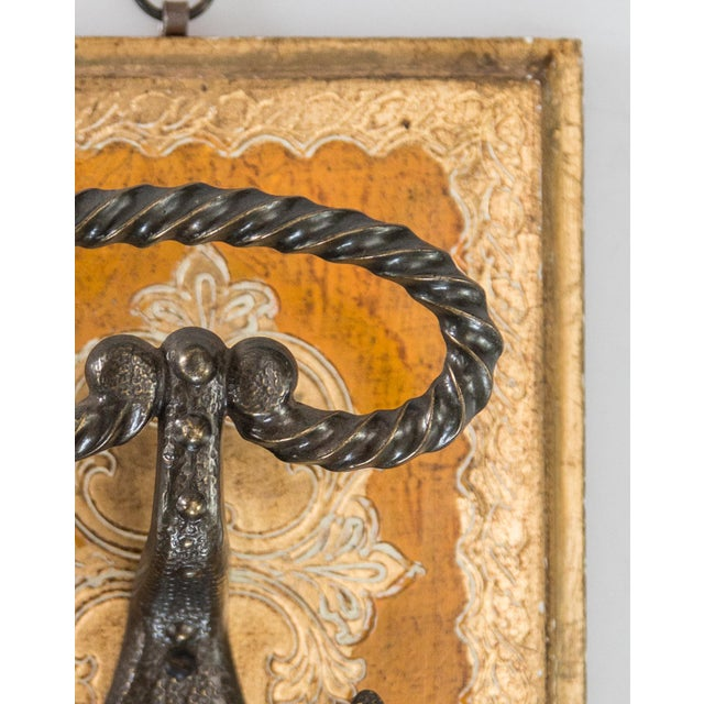 Mid-Century Italian Florentine gilt wood wall hooks. Dress up any room with this gorgeous hanger, perfect for keys,...