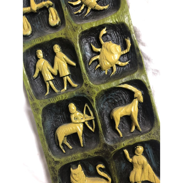 Boho Chic Mid-Century Zodiac Ceramic Wall Art For Sale - Image 3 of 9
