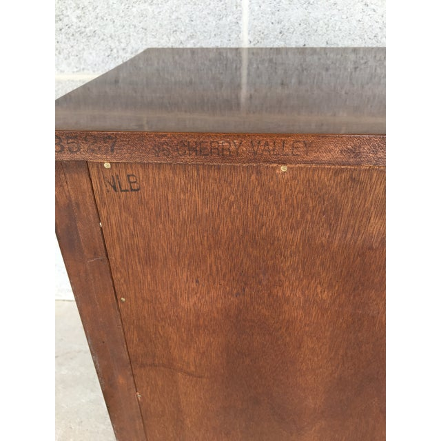 Wood Stickley Cherry Valley Chippendale Style 3 Drawer Nightstand For Sale - Image 7 of 9