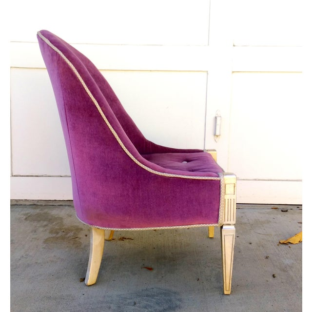Vintage Lilac Slipper Chair - Image 3 of 8