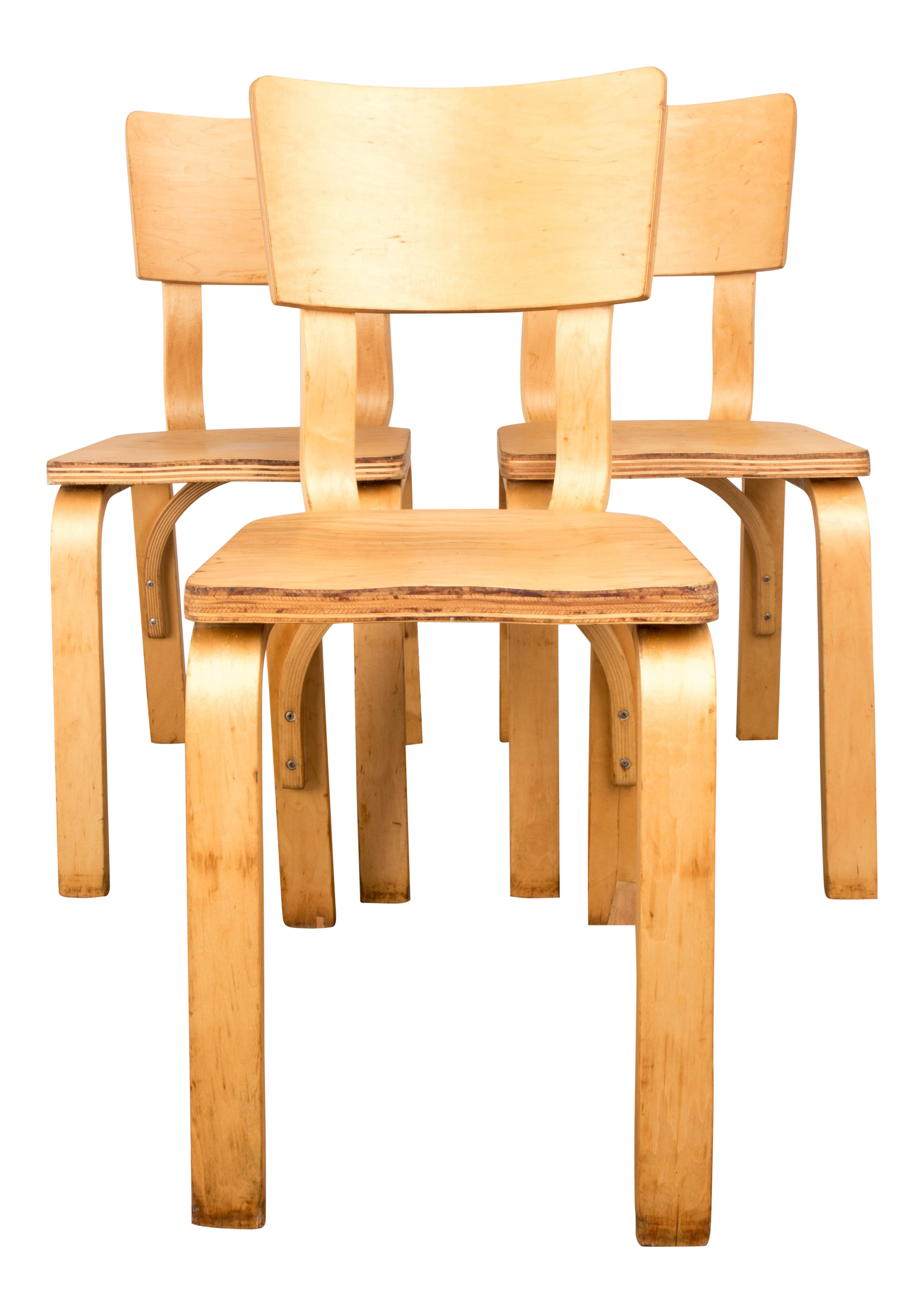 Mid Century Modern Bentwood Dining Chairs By Thonet   Set Of 3 For Sale