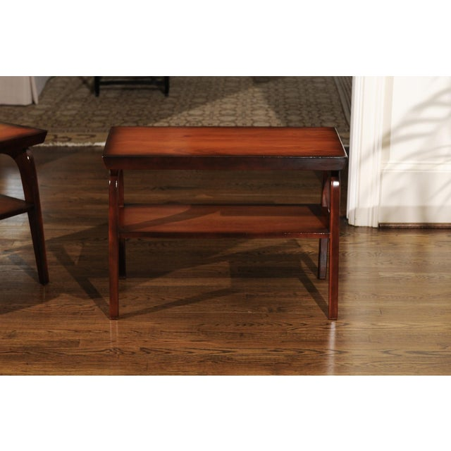 Rare Restored Pair of End Tables by John Wisner for Ficks Reed, Circa 1954 For Sale - Image 9 of 13