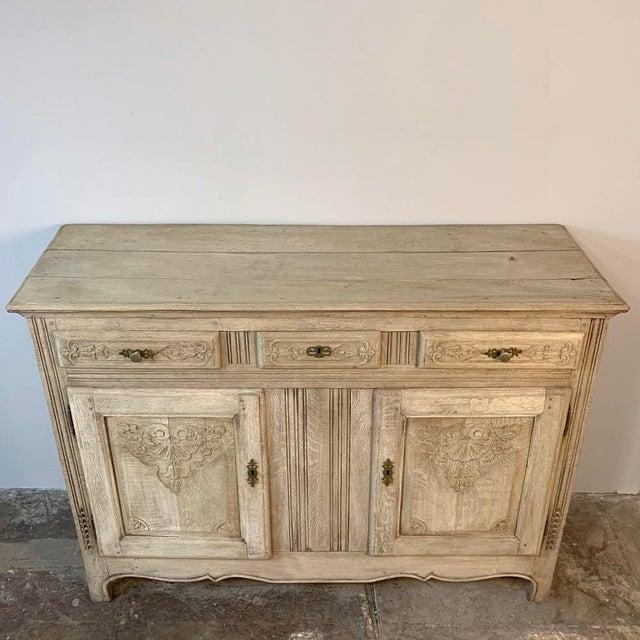 19th Century Rustic Regence Stripped Oak Buffet For Sale - Image 10 of 12