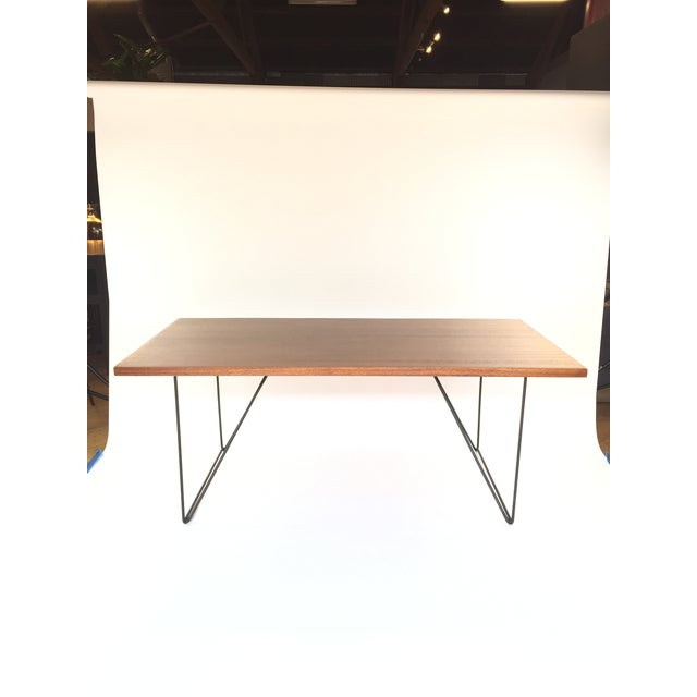 Luther Conover Mahogany and Iron Table, 1950 For Sale - Image 5 of 11