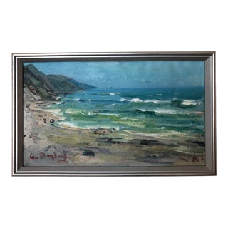 Swedish Vintage Seascape Painting For Sale
