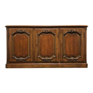 Baker Solid Walnut French Country Style Server / Credenza For Sale