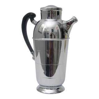 1930s Art Deco Chrome Cocktail Shaker For Sale