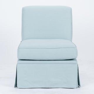 Casa Cosima Skirted Slipper Chair in Porcelain Blue, a Pair Preview