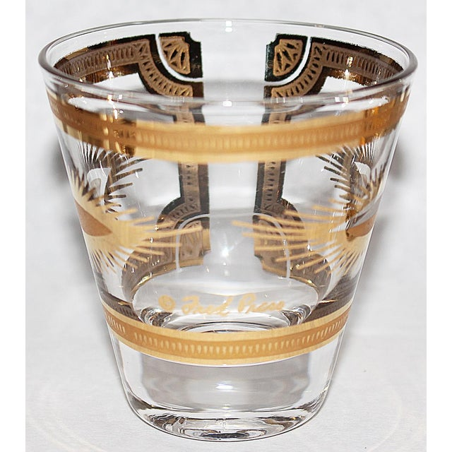 Fred Press Gilded Double Shot Glasses - Set of 6 - Image 5 of 6