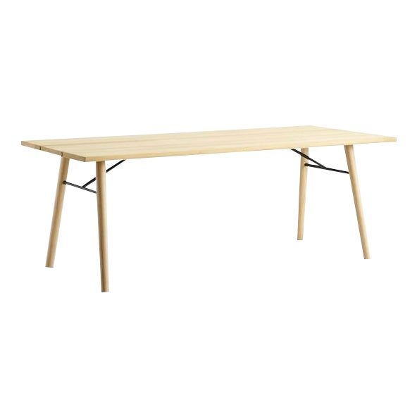 Woud Spilt Soaped Oak Dining Table For Sale