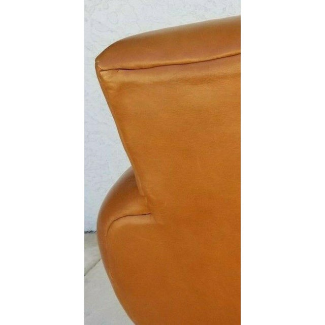 MCM Ralph Lauren Genuine Leather Club Lounge Armchair For Sale - Image 9 of 12