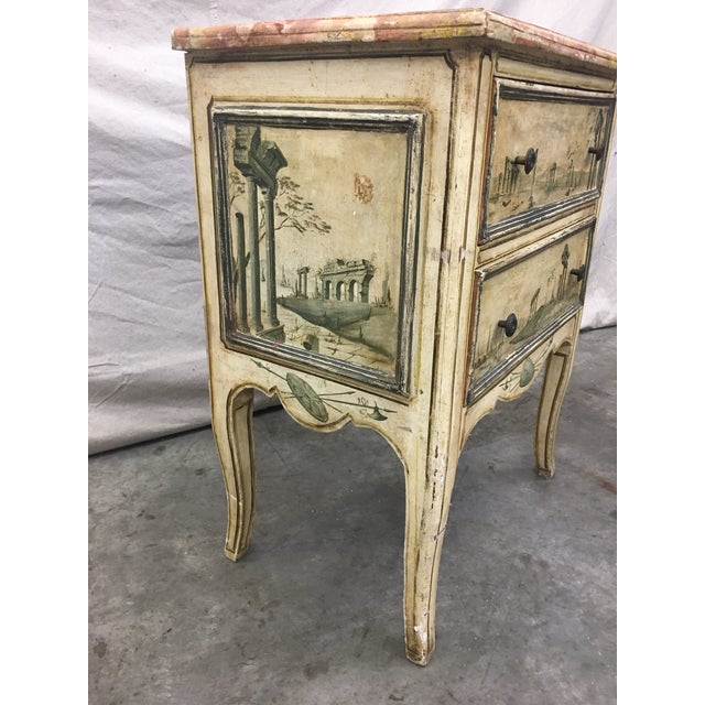 Green 19th C Venetian Petite Painted Chest of Drawers - Commode For Sale - Image 8 of 12
