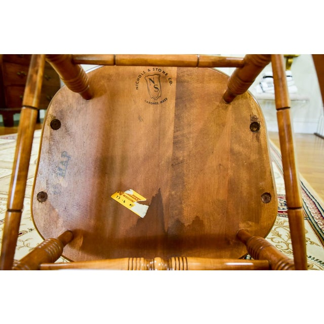 Cherry Wood 1960s Vintage Nichols & Stone Co. Boston Style Rocking Chair For Sale - Image 7 of 8