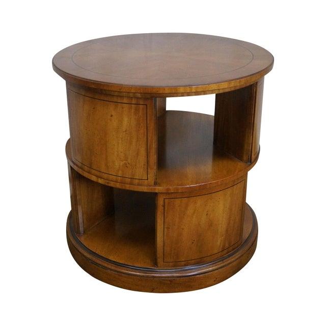 Henredon Vintage Round Revolving Bookcase Side Table