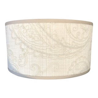 Boho Crewel Embroidered Lampshade For Sale