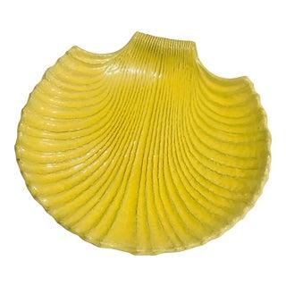 Vintage Hoganas Stoneware Yellow Coastal Platter For Sale
