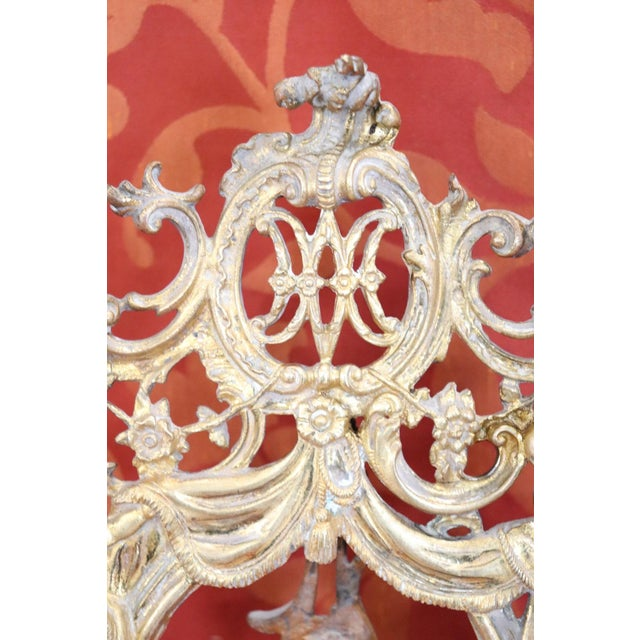 Gold Italian Baroque Style Photo or Picture Frame in Gilded and Chiseled Bronze For Sale - Image 8 of 12