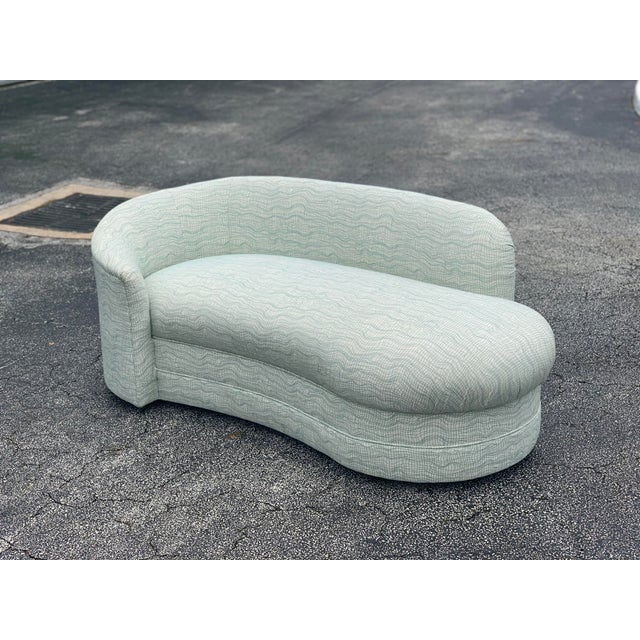 Vladimir Kagan Style Petite Serpentine Cloid Sofa For Sale - Image 12 of 12