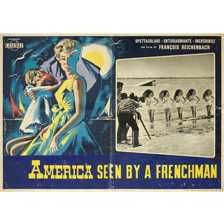 America As Seen by a Frenchman 1961 Italian Fotobusta Film Poster For Sale
