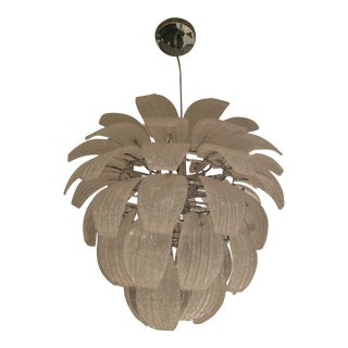 Palm Beach Style Glass Chandelier For Sale