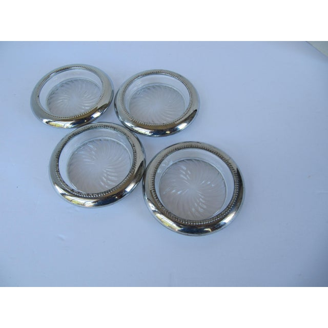 Mid-Century Silverplate Coasters - Set of 4 For Sale - Image 4 of 4