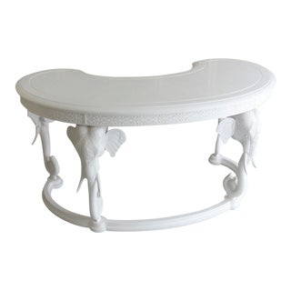 Gampel Stoll Fretwork Elephant Desk For Sale