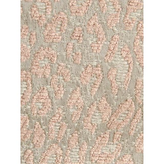 Sample, Scalamandre Leopard Pink Sand Fabric For Sale