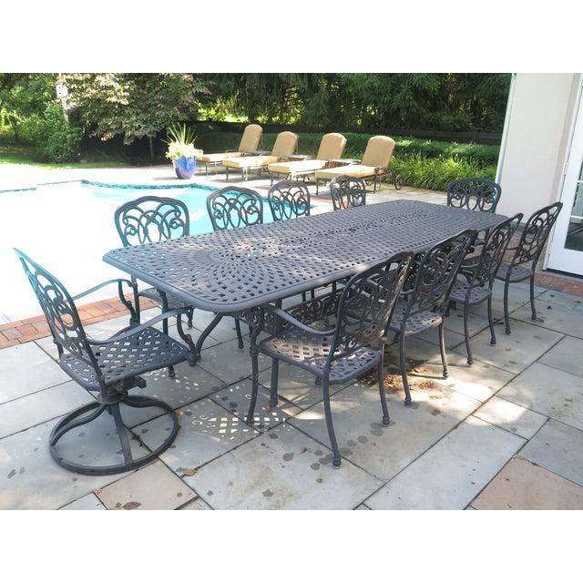 Peachy Darlee Cast Aluminum Table Chair Patio Set Set Of 11 Home Interior And Landscaping Spoatsignezvosmurscom