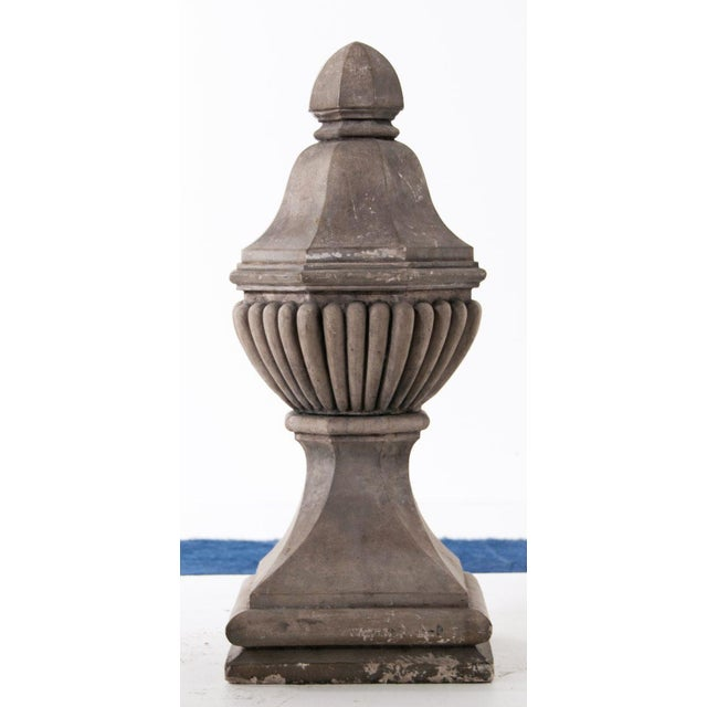 Pair of French vintage stone finials. Circa 1920.