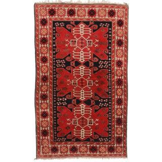 RugsinDallas Antique Turkish Area Rug - 3′5″ × 6′7″ For Sale