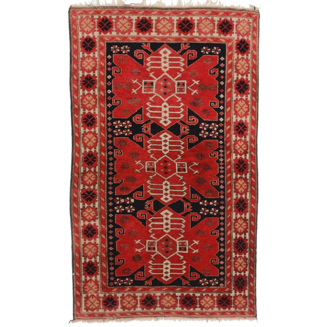 RugsinDallas Antique Turkish Area Rug - 3′5″ × 6′7″ - Image 1 of 2