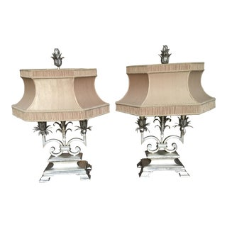 Classical Greek Style Table Lamps - A Pair For Sale