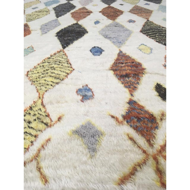 Hand Knotted Moroccan Rug- 10′9″ × 13′11″ For Sale - Image 4 of 6