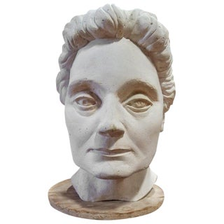 Life-Size Terracotta Bust by Herman Volz For Sale