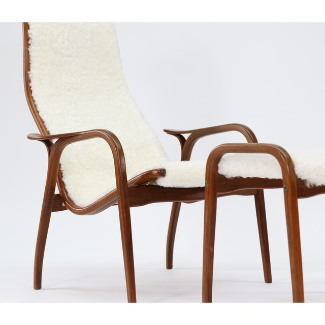 Vintage Yngve Ekstrom for Swedese Lamino Chair and Ottoman For Sale - Image 12 of 13