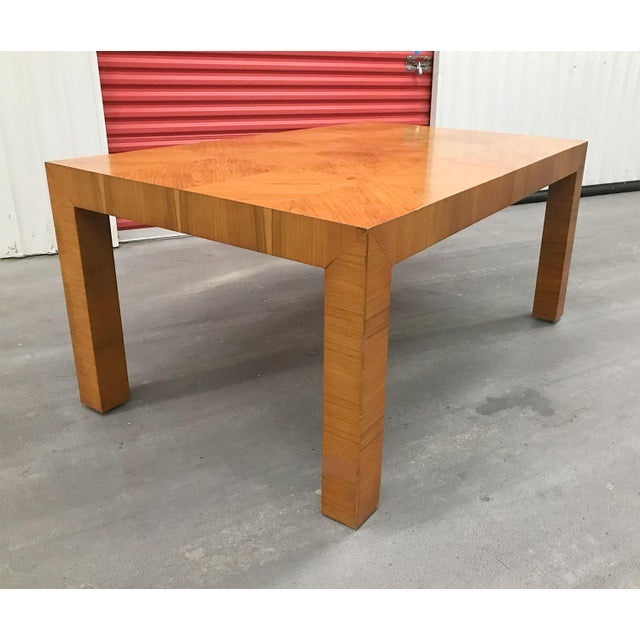 Mid 20th Century Mid-20th Century Milo Baughman / Thayer Coggin Burl Dining Table For Sale - Image 5 of 12