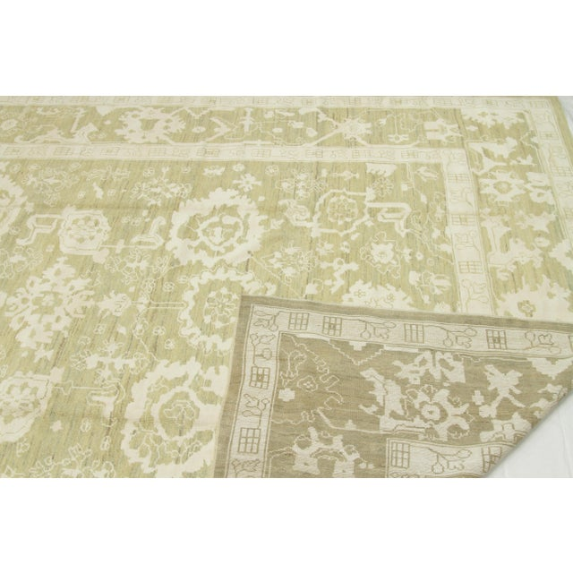 Contemporary Persian Oushak Rug - 10′ × 13′9″ For Sale - Image 9 of 12