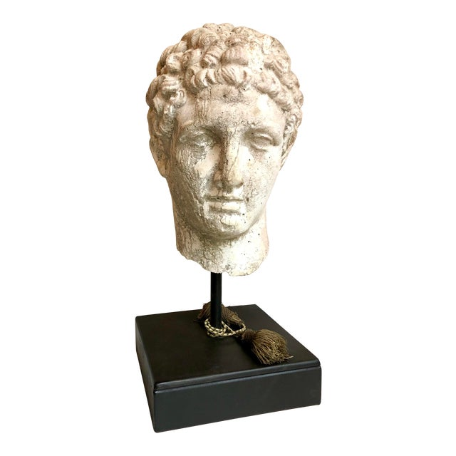 1930s Greek Mid-Century Head of the God Hermes Sculpture For Sale