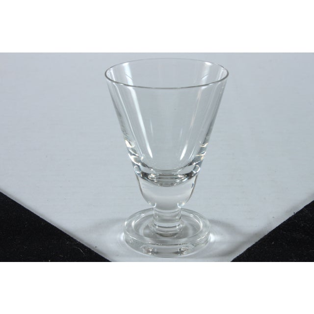 Heavy Footed French Shot Glasses - Set of 7 - Image 3 of 3