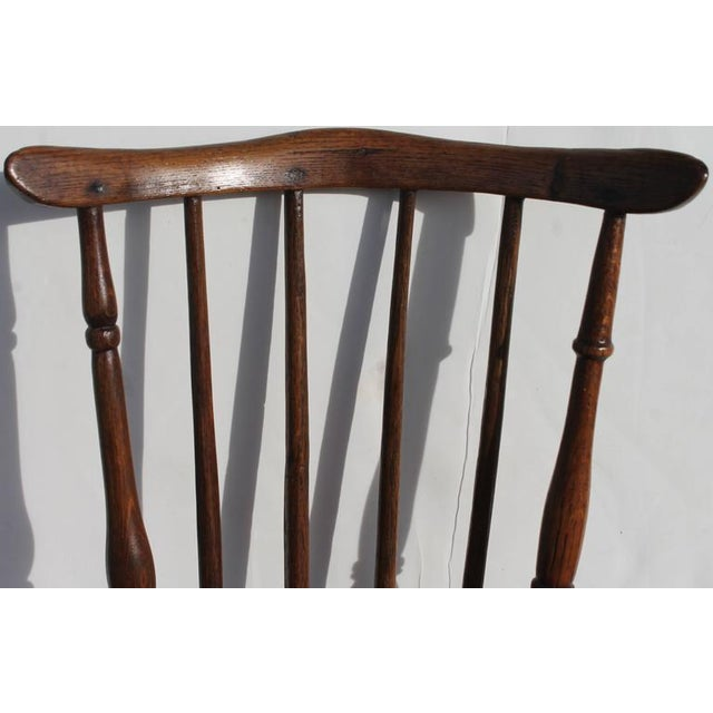 Brown Early and Rare 19th Century Rare Child's Windsor Chair For Sale - Image 8 of 10