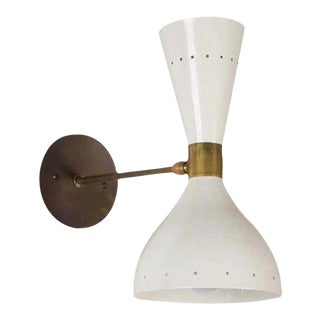 1950s Italian Stilnovo Style Double Cone Sconce For Sale
